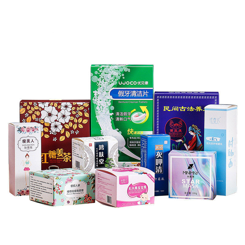 350 GSM White Cardboard Custom Packaging Boxes For Personal Care Supplement Products