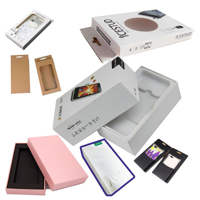 CMYK Pantone Cell Phone Accessories Packaging UV Coating Screen Printing